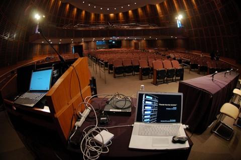 podium view