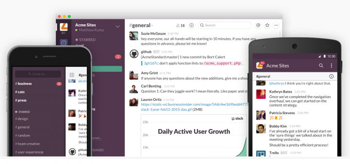 Slack is on multiple platforms