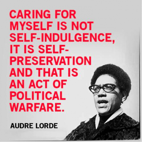 Caring for myself...